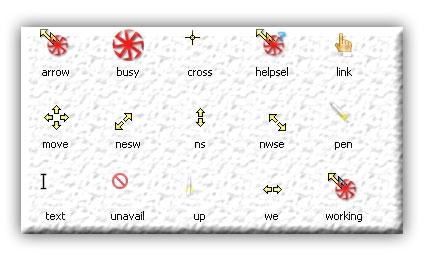 Курсоры с коловратом для winXP