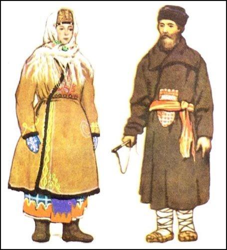 Русский народный костюм мужской и женский картинки