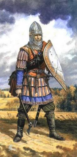 Новго�од�кие воин� в�емен К�ликов�кой би�в� 187 Пе��ни�а