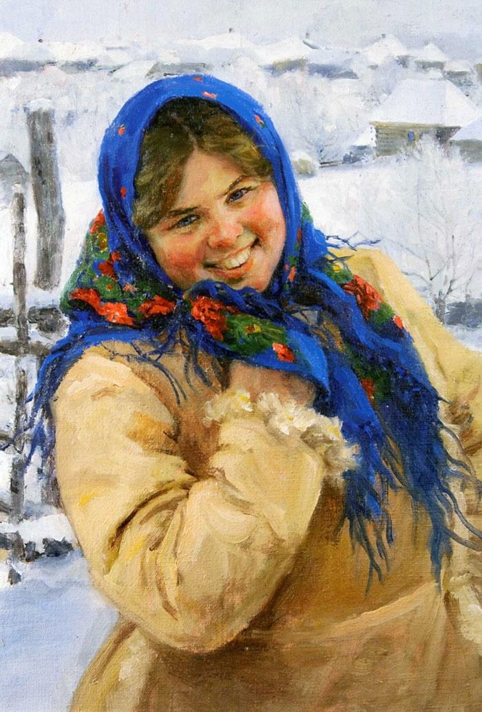 русская сельская девка