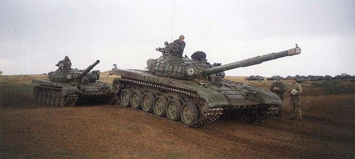 Боевое применение танка Т-72