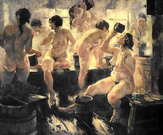 девушки в русских банях