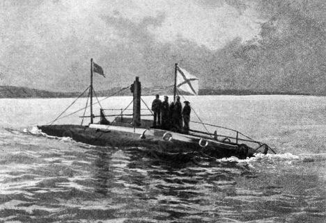 На фото первая русская подводная