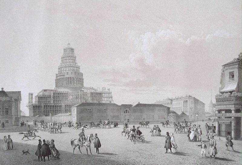 Строительство Исаакиевского собора в картинках