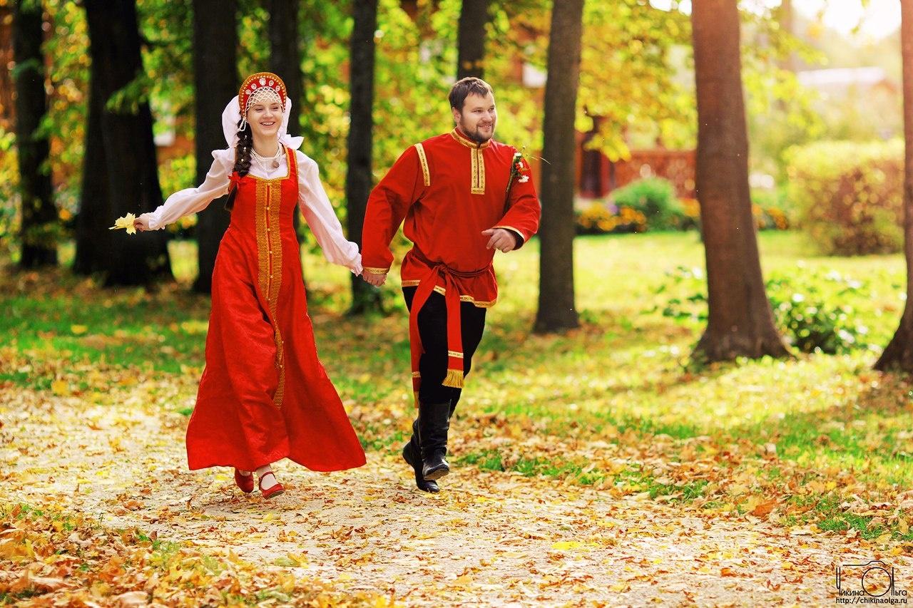 Необычная свадьба в русском стиле