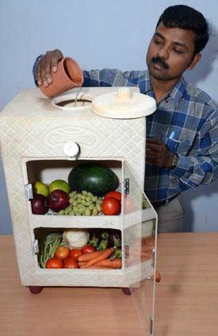 Холодильник из глины своими руками