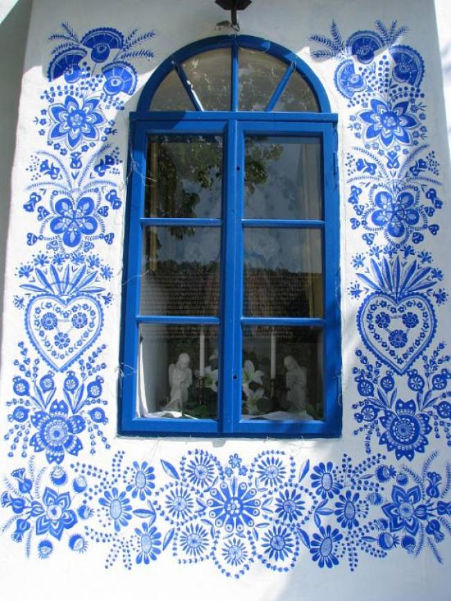 Узоры росписи дома