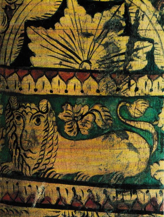 Деталь росписи дуги. Вторая половина XIX века