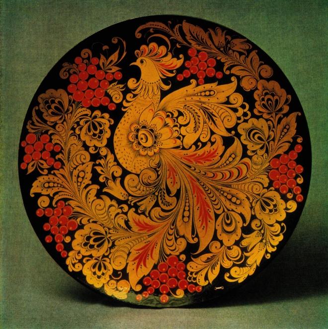 Декоративное панно «Жар птица». 1970