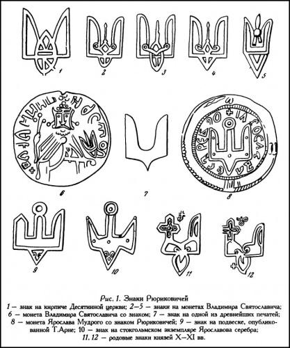Картинки по запросу Знак рода Рюриковичей