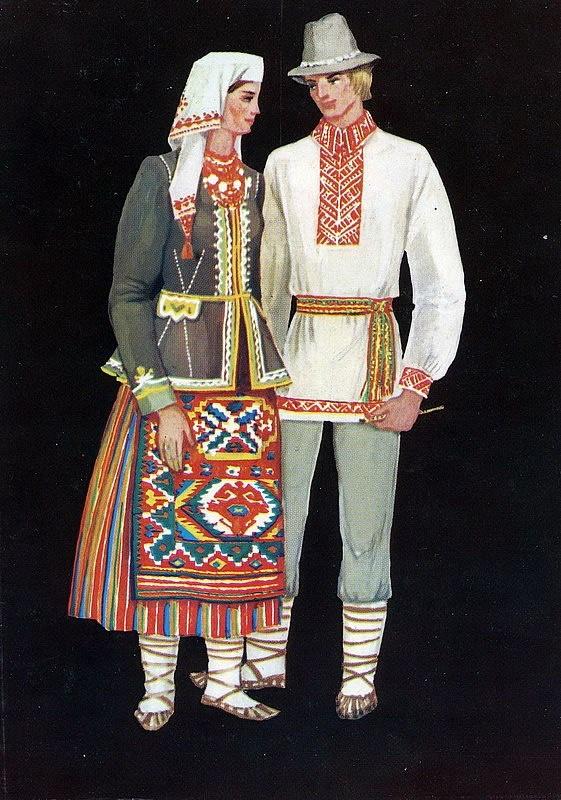 Мужской народный костюм фото и описание если