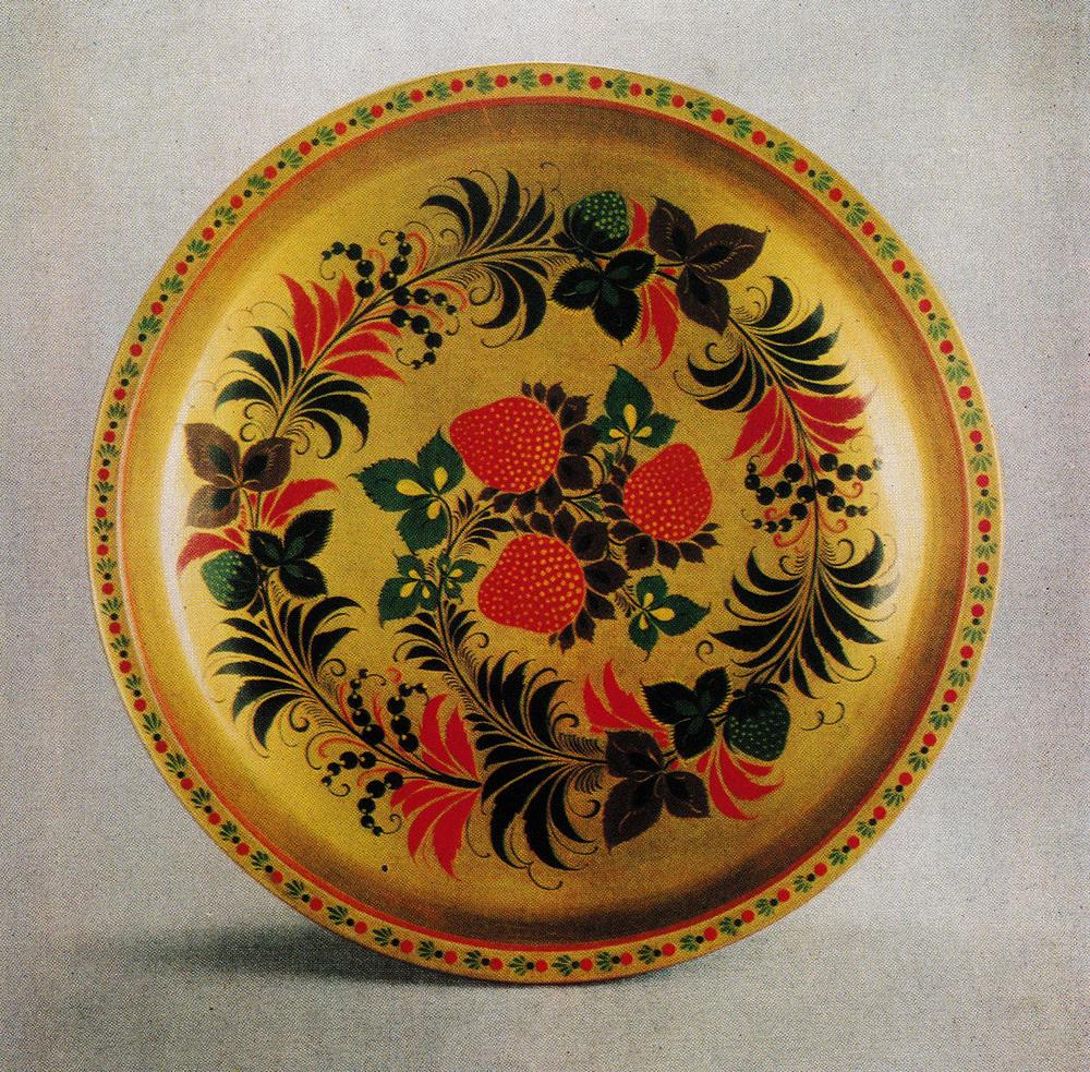 Картинки хохломская роспись тарелки, открытки