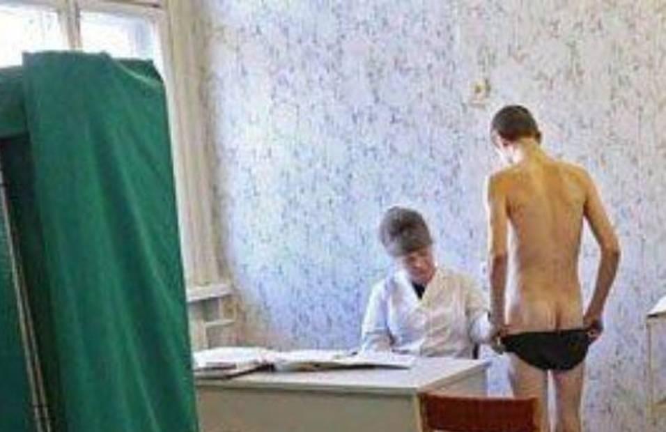 Девушки Проводят Медосмотр В Военкомате