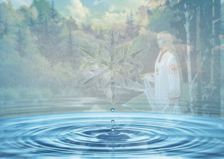 помощью картинки ритуала очищения воды нечасто
